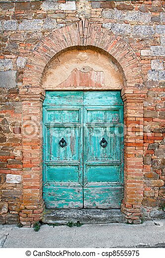 Old door in Tuscany - csp8555975