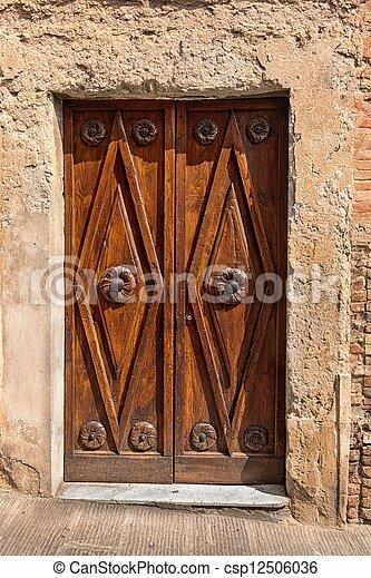 Old door in Tuscany - csp12506036