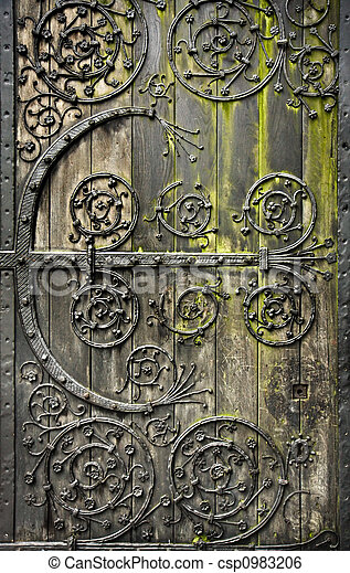 Old door - csp0983206