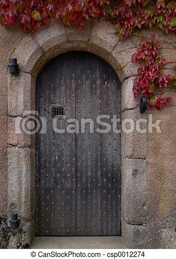 Old door - csp0012274