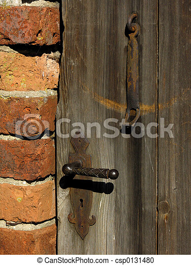 Old door - csp0131480