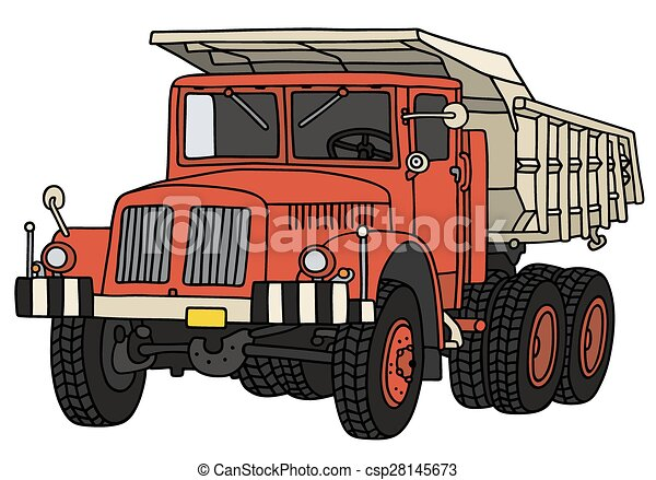 Old dumper truck - csp28145673