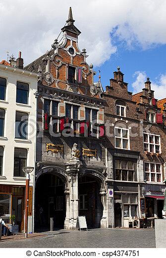Old Dutch Houses In Nijmegen The Netherlands