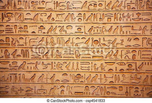 old egypt hieroglyphs - csp4541833