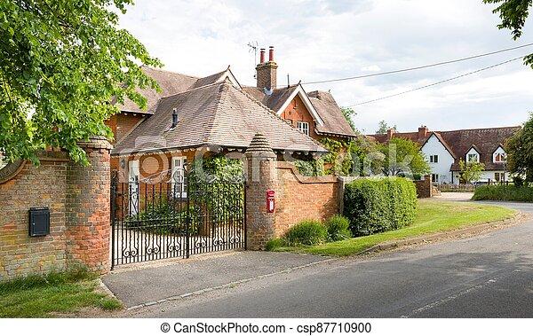 Old English house in Buckinghamshire village, UK - csp87710900