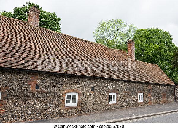 Old English village house - csp20367870