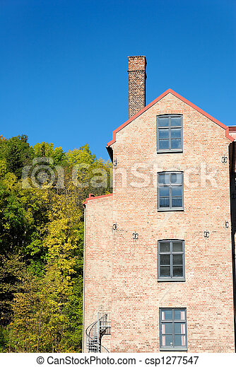Old Factory and Trees  - csp1277547