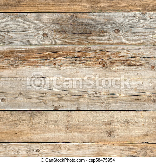 Old faded dull pine flat natural wood square background - csp58475954