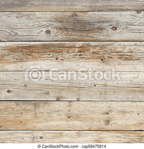 Old faded dull pine natural wood square background texture - csp58475914