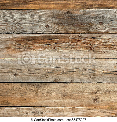 Old faded pine natural wood background texture square - csp58475937