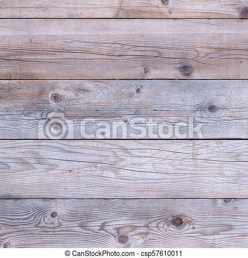 Old faded wood background square format - csp57610011
