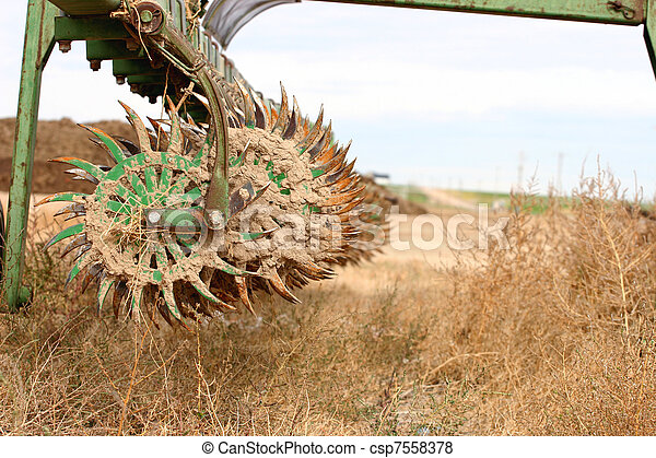 Old Farm Plow - csp7558378