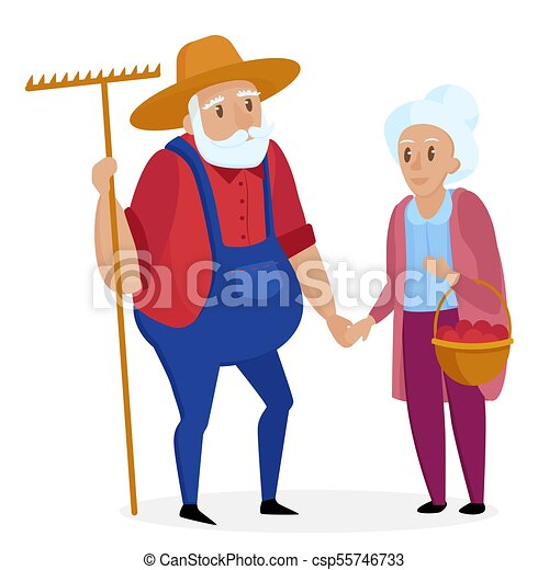 old farmer with his wife elderly couple senior grandpa and rh canstockphoto com housewife clipart angry wife clipart