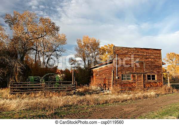Old Farmhouse Old Wooden Farmhouse In Wyoming Stock Photography
