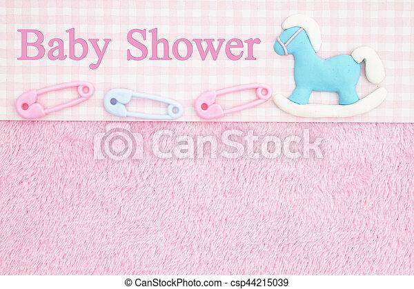 Old Fashion Pink Baby Shower Background   Csp44215039