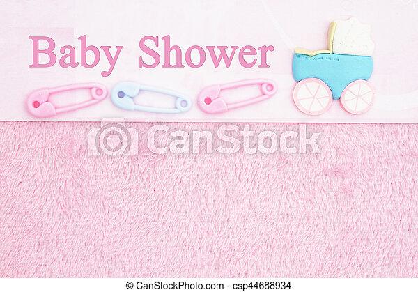 Old Fashion Pink Baby Shower Background   Csp44688934