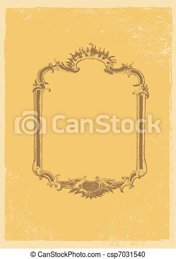 Old fashion vector frame. - csp7031540