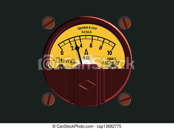 Old-Fashioned Ampermeter - csp13682775