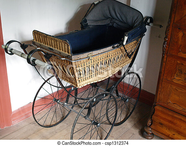 https www canstockphoto com old fashioned baby stroller 1312374 html