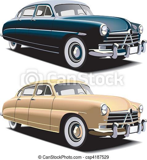 old-fashioned big car - csp4187529