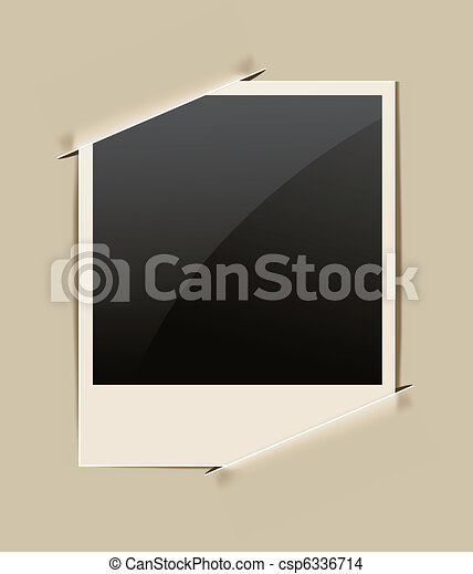 Old-fashioned paper frame.