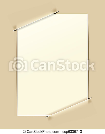 old-fashioned paper frame - csp6336713