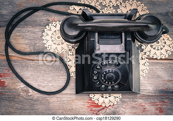 Old-fashioned rotary telephone - csp18129290