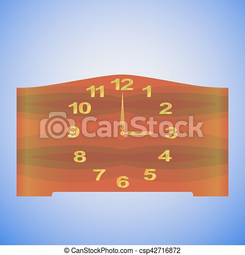 Old Fashioned Table Clock Vector