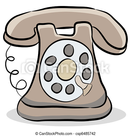 An Image Of A Old Fashioned Telephone Vector Illustration