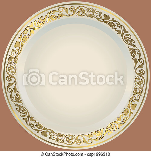 Old-fashioned white plate - csp1996310
