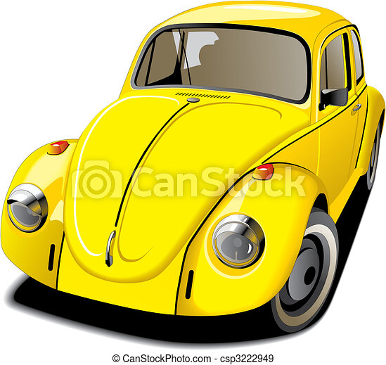 Old-fashioned yellow car - csp3222949