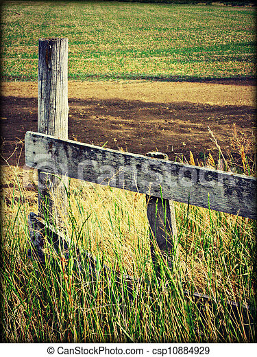 Old fence - csp10884929