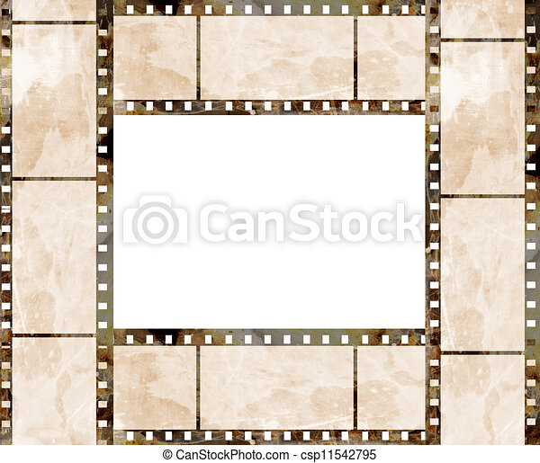 Old film strip frame with some spots.