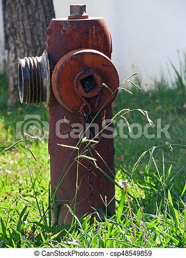 Old and rusty fire hydrant