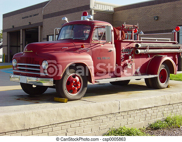 Old Fire Truck - csp0005863