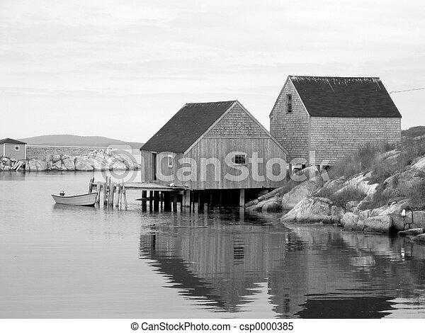 Old Fishing Shacks - csp0000385