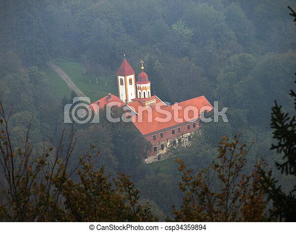 Old forgotten monastery - csp34359894