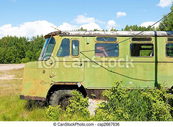 old forgotten russian truck - csp2667636