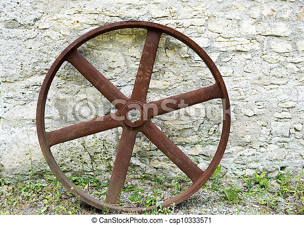 old forgotten wheel - csp10333571