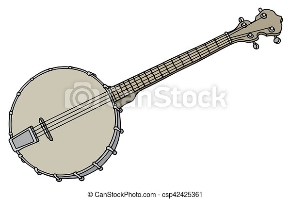 Old four strings banjo - csp42425361