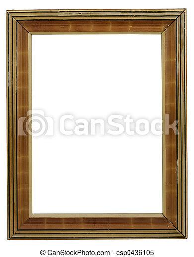 Old frame on white.