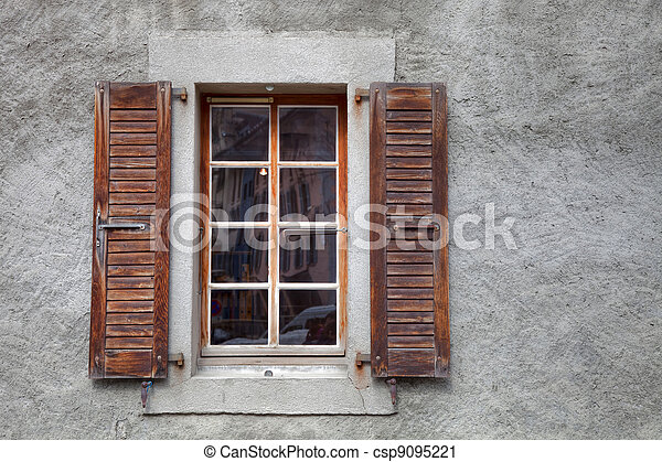Old French Window French Style Old Window Details With