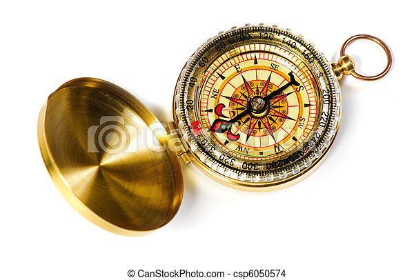 old fshioned magnetic compass - csp6050574