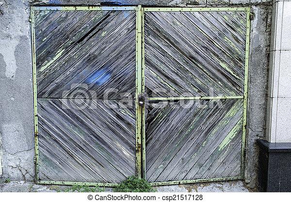 Old Garage Door Old Weathered Wooden Garage Door