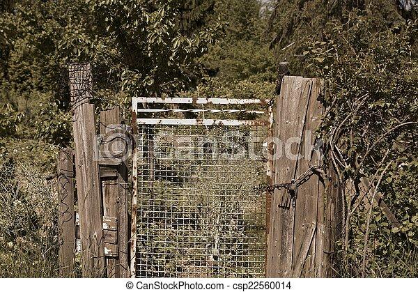 Old Garden Gate   Csp22560014