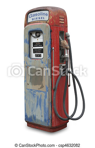 Old gasoline pump, isolated - csp4632082