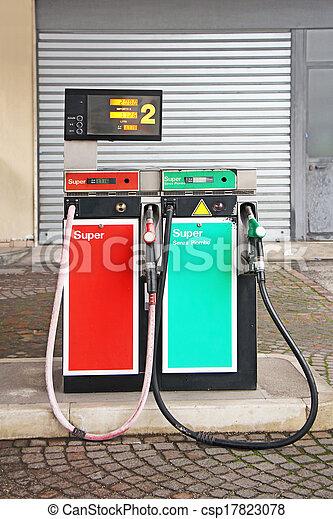 Old Gasoline pump - csp17823078