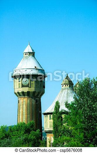 Old gasplant in Obuda, Budapest - csp5676008