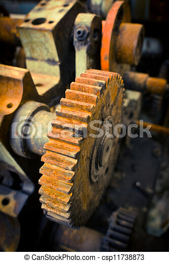 old gears - csp11738873