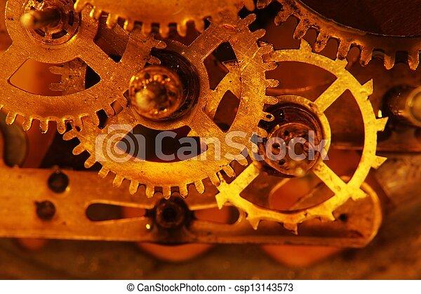Old gears - csp13143573